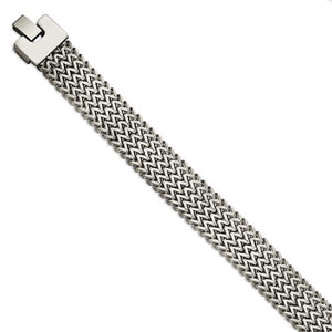 Stainless Steel Polished Woven Bracelet