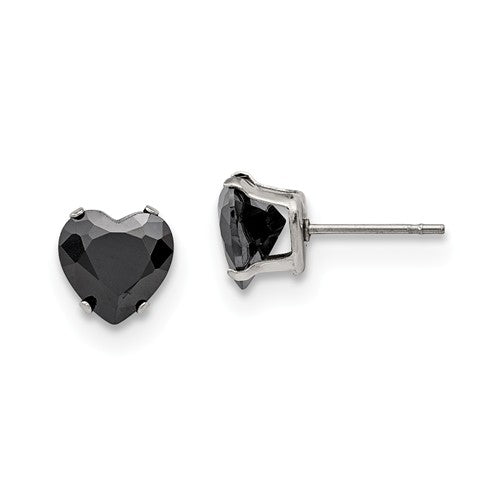 Black Heart Earrings