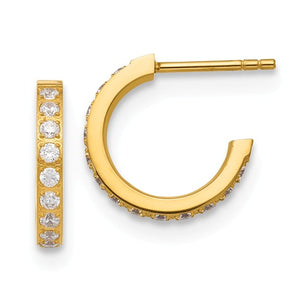 Yellow Plated Cz Earrings