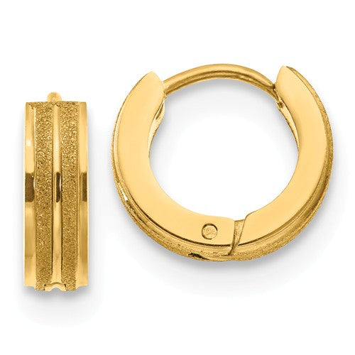 Yellow Laser cut Hinged Hoop Earrings