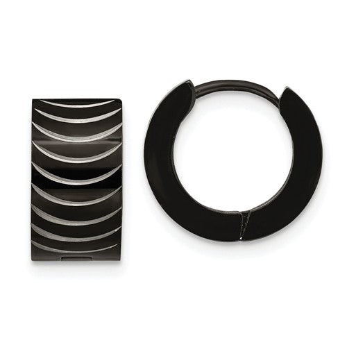 Zebra Stripe Hoop Earrings