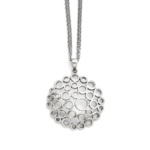 Stainless Steel Polished Multi-Circle Necklace