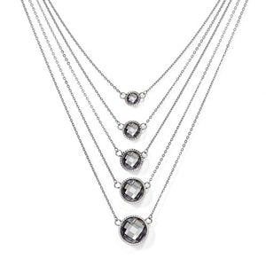 Stainless Steel Glass Polished Necklace