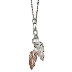 Feather Slip on Necklace
