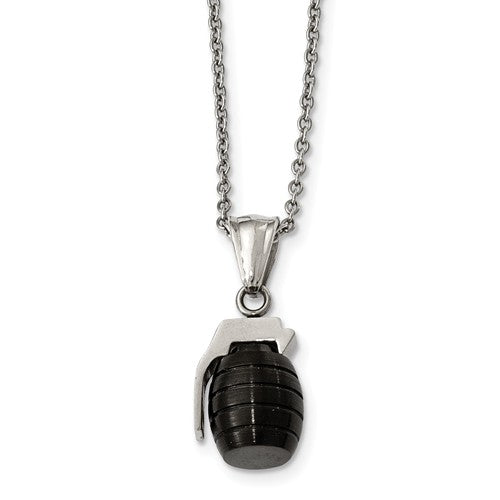 Black Grenade Necklace