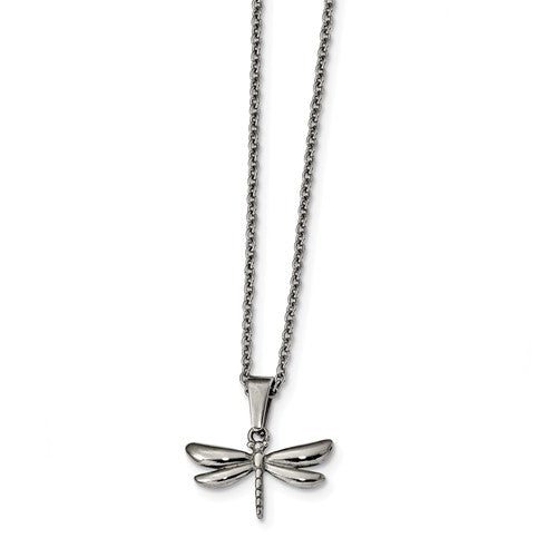Stainless Steel Polished Dragonfly Necklace