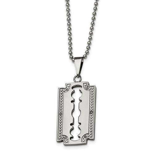 Diamond Razor Blade Necklace