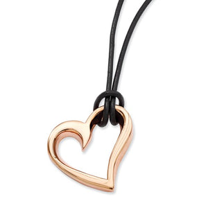 Stainless Steel Rose Gold Plated Heart Necklace