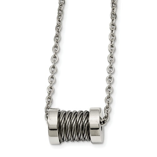 Wire Barrel Necklace
