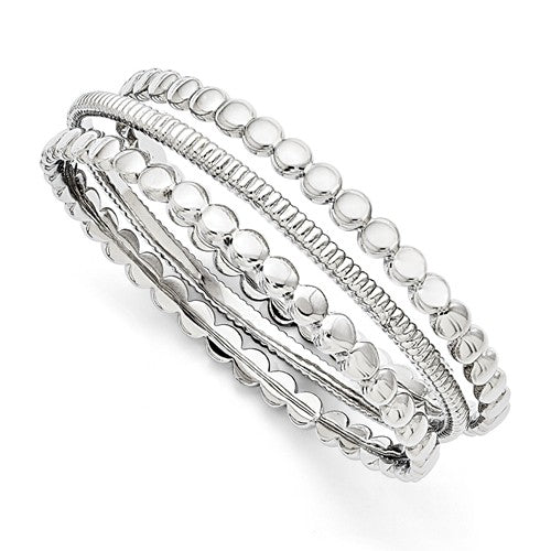 Stainless Steel Polished 3-piece Bangle Set