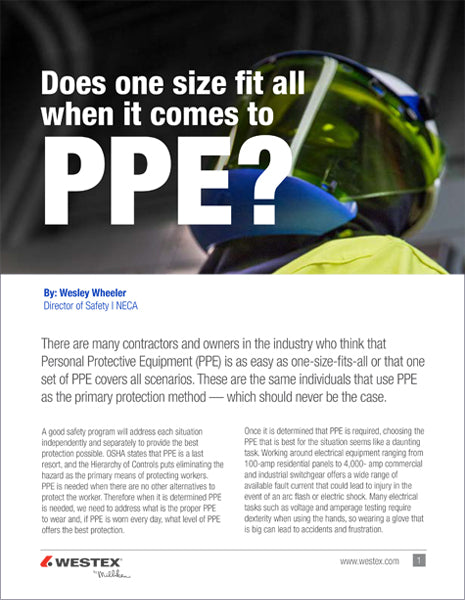 Does One Size Fit All When it Comes to PPE