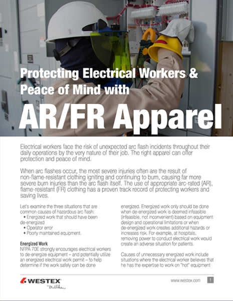 8271a9811bb Protecting Electric Workers   Peace of Mind with AR FR Apparel ...