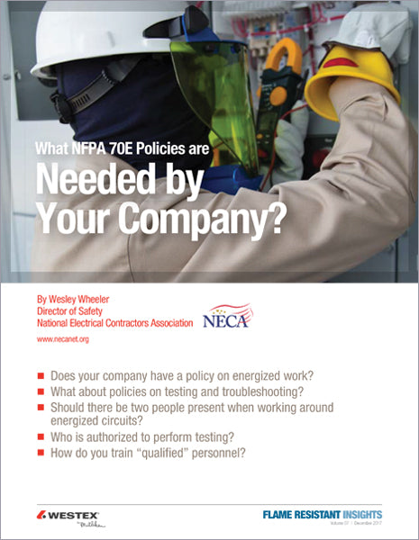 What NFPA 70E Policies are Needed by Your Company