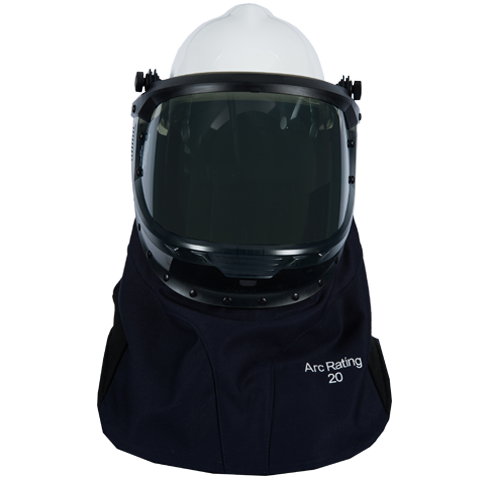 20 CAL Enespro OptiShield™ Vented Lift-Front Shroud & MSA V-Gard® Hard Hat