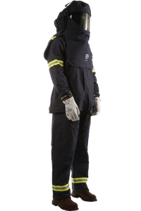 40 CAL Enespro PPE AirLite Arc Flash KIT with OptiShield with DUAL Fan Hood X-Large
