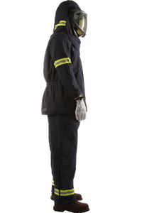 40 CAL Enespro AirLite™ Arc Flash KIT with OptiShield™ Vented Lift-Front Hood & MSA V-Gard® Hard Hat