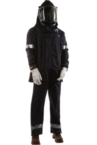 40 CAL Enespro Arc Flash KIT with OptiShield™ Vented Lift-Front Hood & MSA V-Gard® Hard Hat