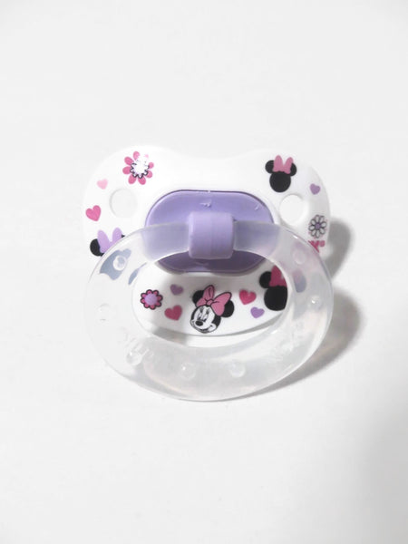 Reborn Doll Pacifier Magnetic or Putty Kit:  Minnie Design (White Colors/Designs Vary)