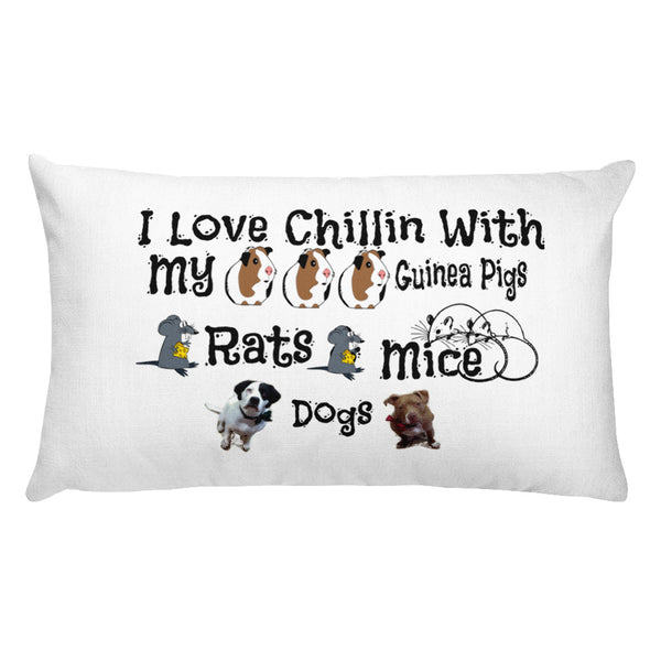 Premium Pillow Designed for Pet Lovers!  Customize It With Your Pets