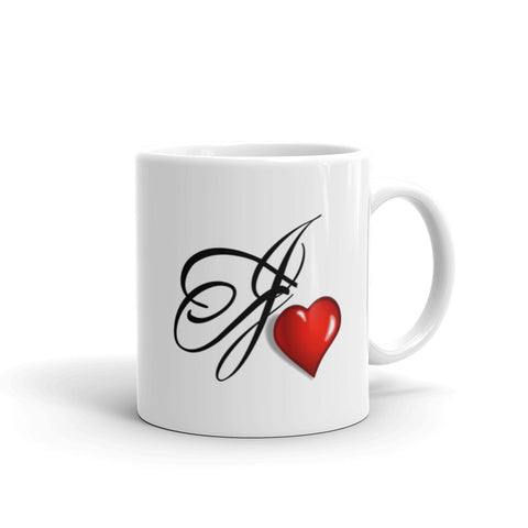 Mug Customized With Your Own Initials Plus Heart