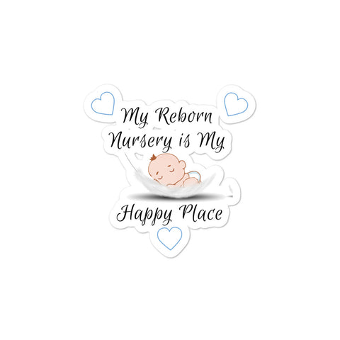 Reborn Doll Nursery Space Bubble-Free Stickers - Super Gift for a Reborn Boy's Room