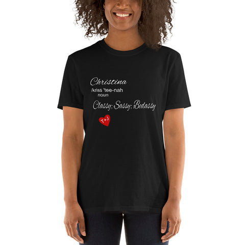 CHRISTINA Short-Sleeve Unisex T-Shirt