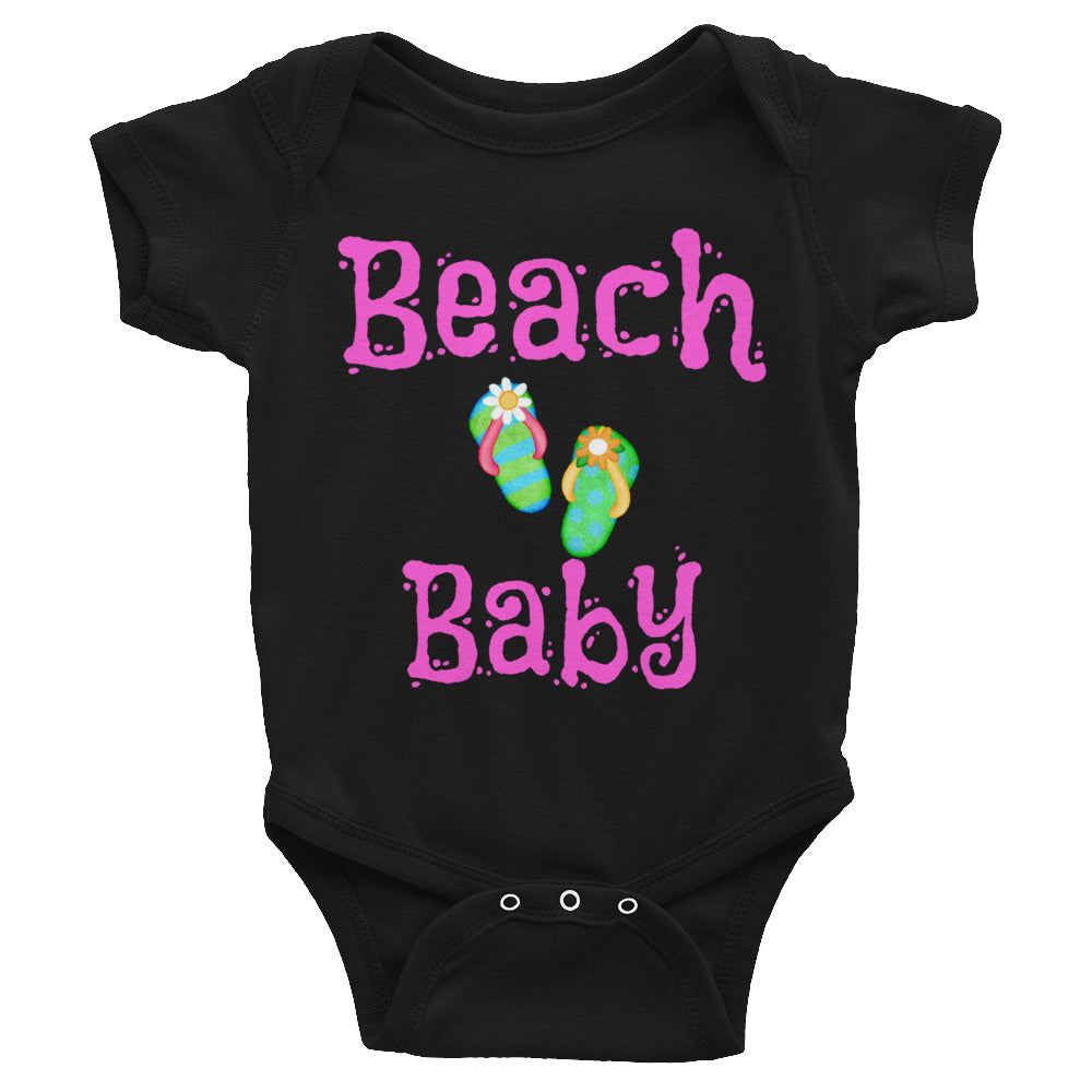 Baby Toddler Snap Crotch Body Suit Beach Design for a Fun Summer Baby Shower Gift