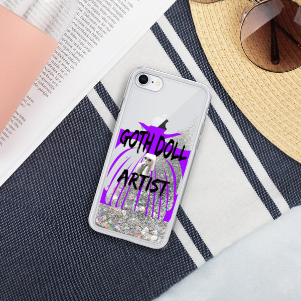 Gothic Artists Who Design Dolls or Reborn Doll Liquid Glitter Phone Case