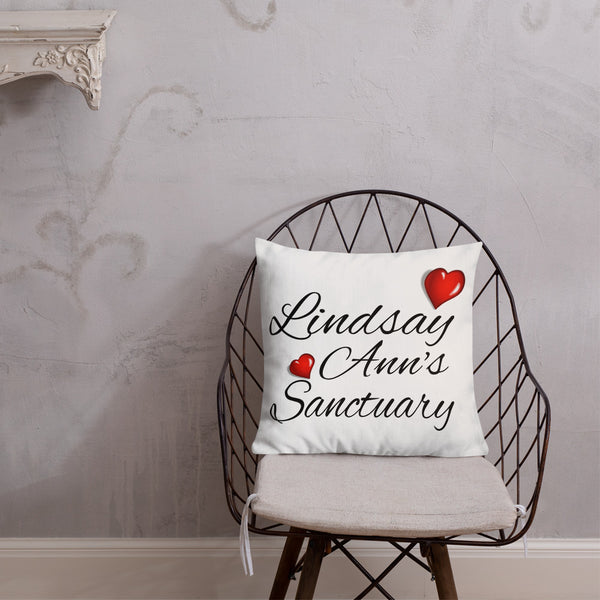 Premium Pillow Lindsay Ann's Custom Pillow - Use a Name of Your Choice for this Design