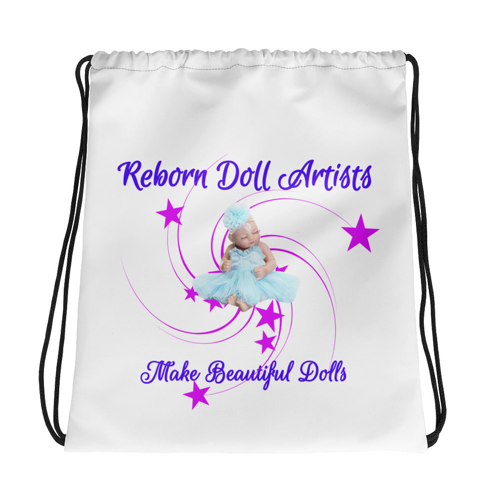 Reborn Doll Artist Design Drawstring Bag