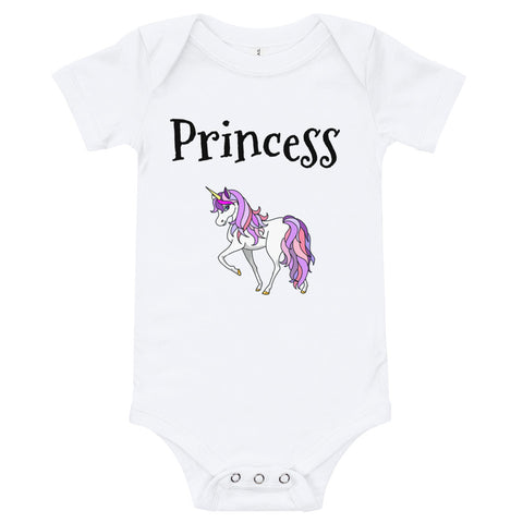 "T-Shirt Baby Toddler Snap Crotch Style for Your Little ""Princess"""