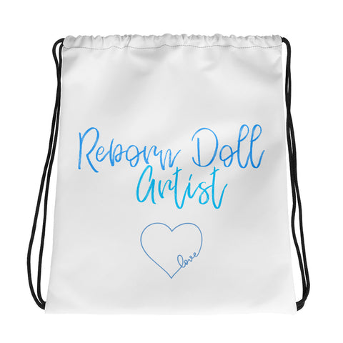 Reborn Doll Artist Drawstring Bag 15in x 17in Holds Up to 33 lbs!  Custom Printed on Both Sides.