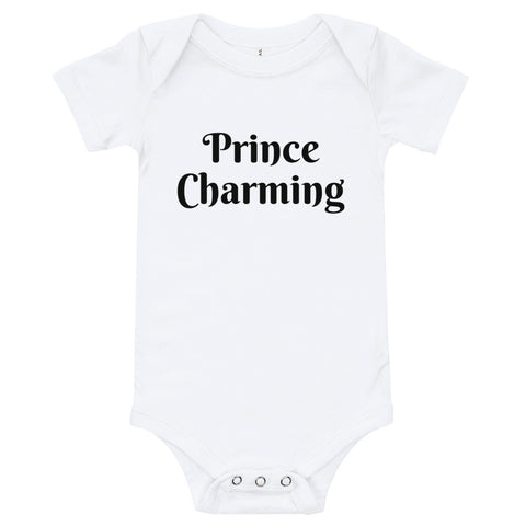 "T-Shirt Baby Infant Toddler ""Prince Charming"" Adorable Tee Shower Gift"