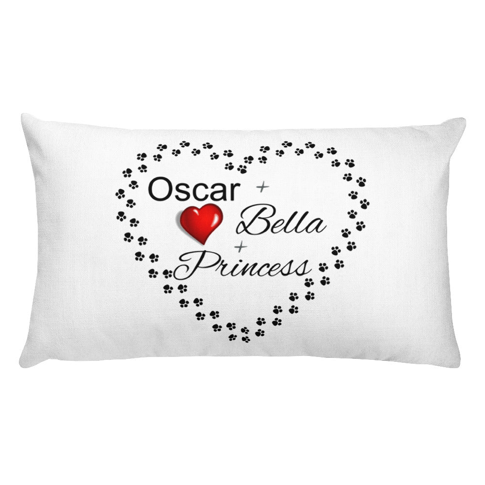 Premium Pillow Oscar, Bella, Princess Pet Pillow Custom Design
