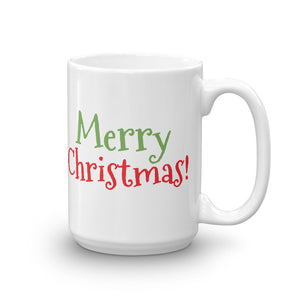 Merry Christmas Coffee Tea Cocoa or Cider Hot Ceramic Mug - Customize for a Gift.  Add a Name and or Date if You Wish