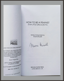 How To Be A Feminist-Maxine Russell-SIGNED