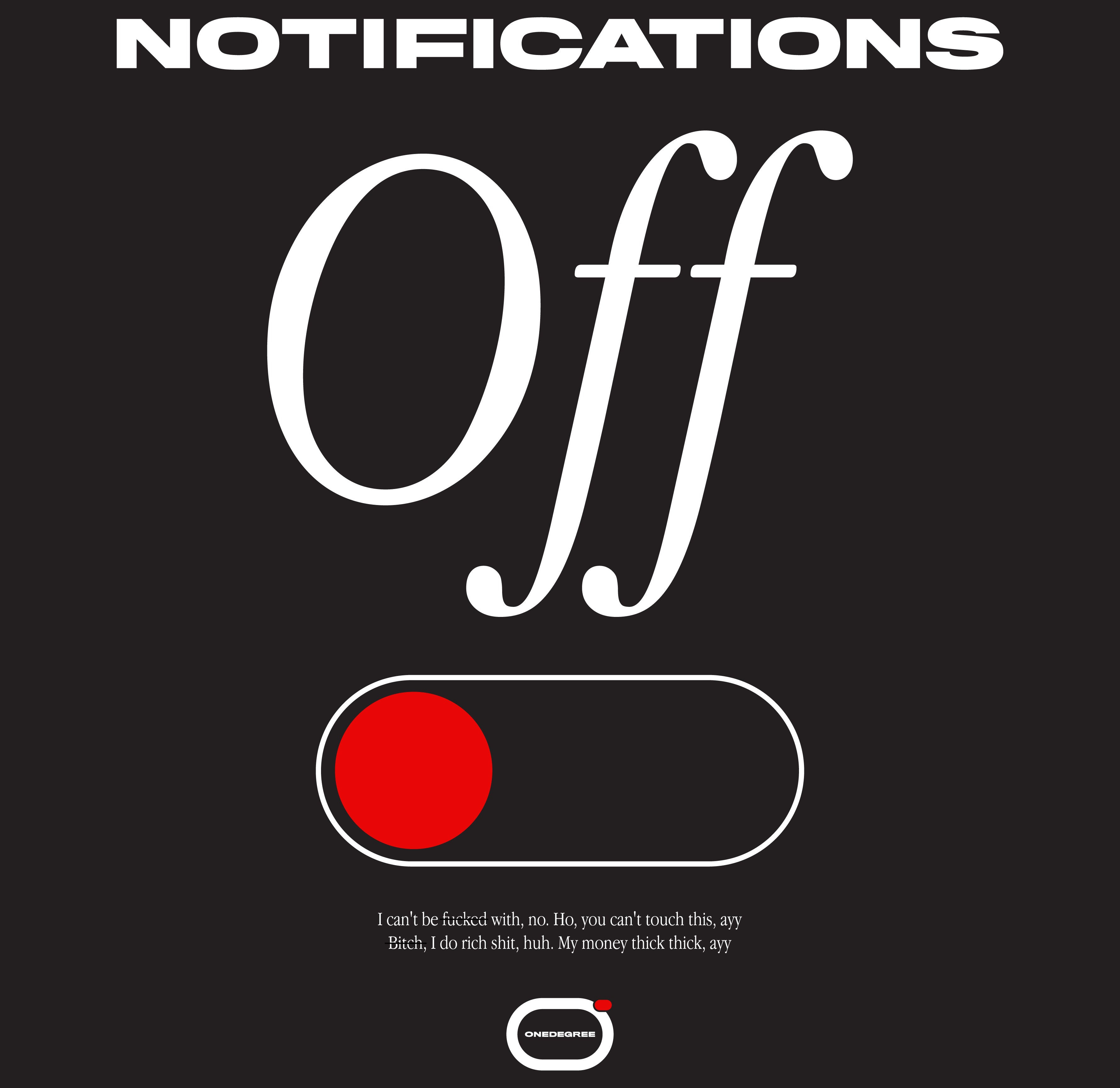 Notifications Off T-Shirt