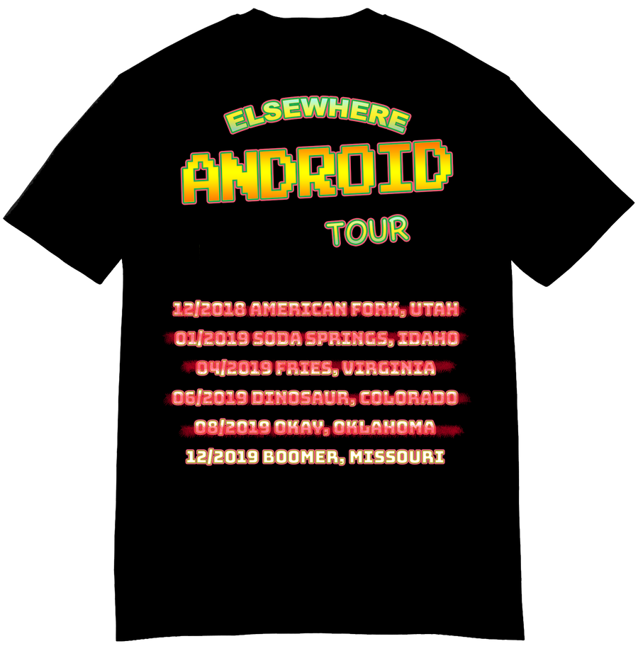 Elsewhere for Android x US TOUR - Short-Sleeve Unisex T-Shirt