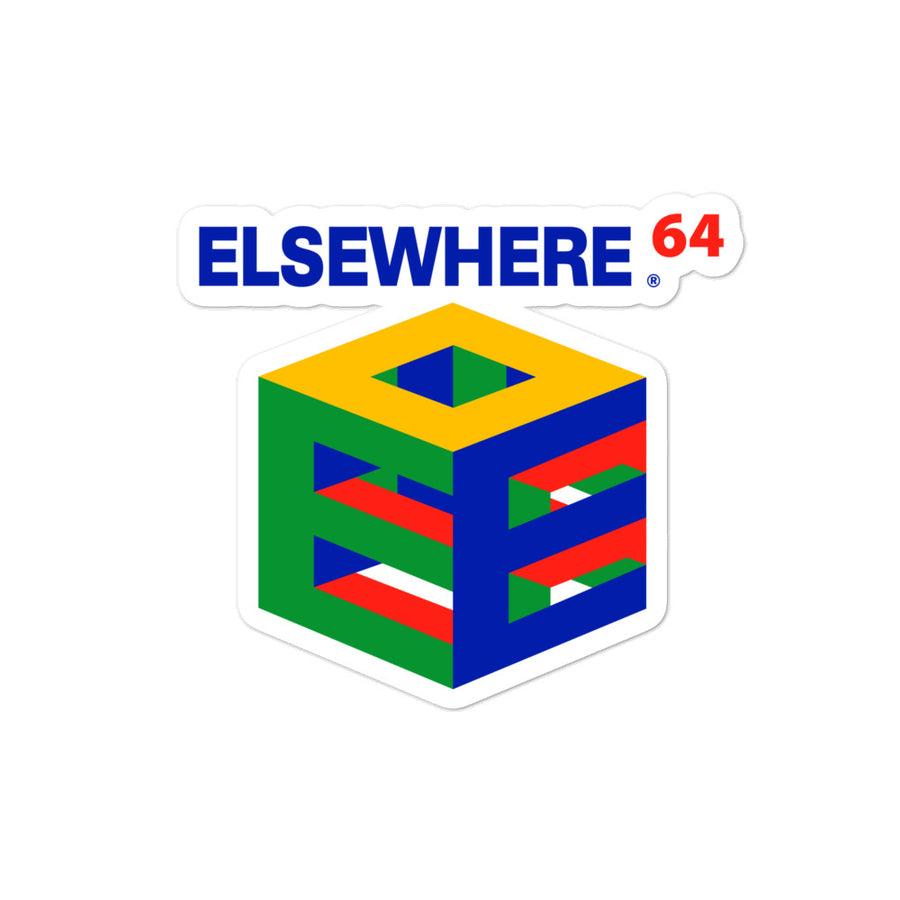Elsewhere 64 Bubble-free stickers