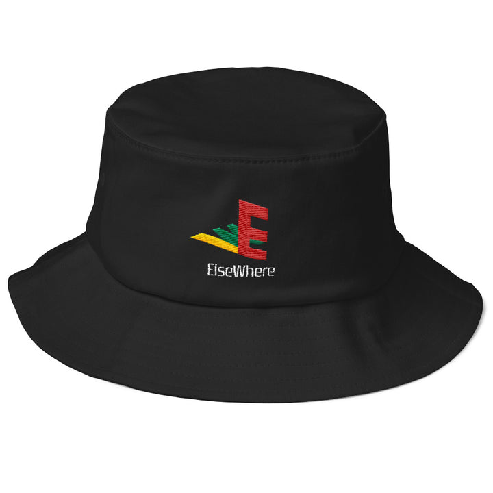 Old School Embroidered Elsewhere Station Bucket Hat