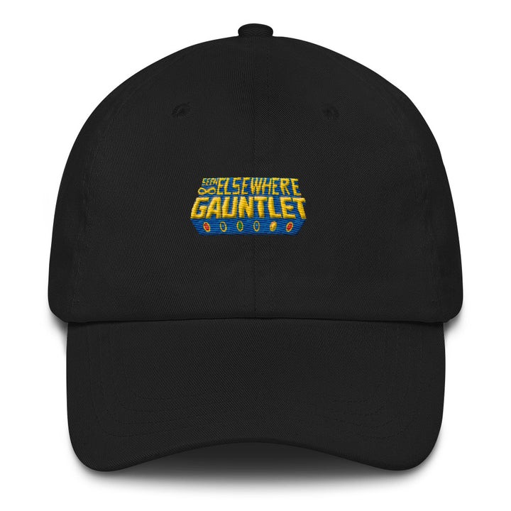 Seen Elsewhere Gauntlet Logo Puff Embroidered Dad Hat