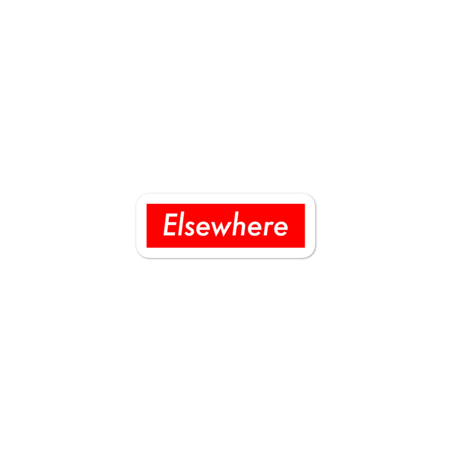 Supreme Elsewhere Bubble-free stickers