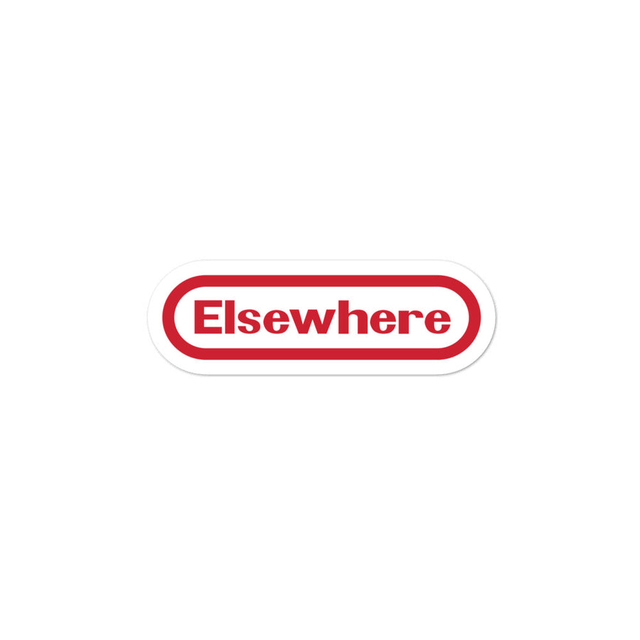 Elsewhere Tendo Bubble-free stickers