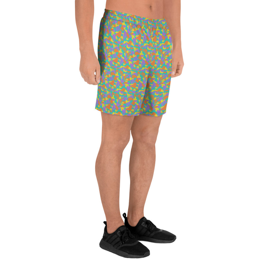 Men's Athletic Teal Elsie Long Shorts