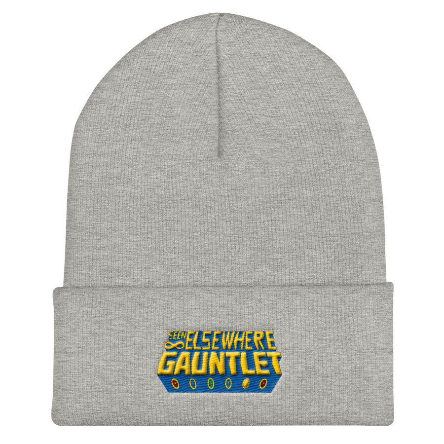 Seen Elsewhere Gauntlet Logo Puff Embroidered Beanie