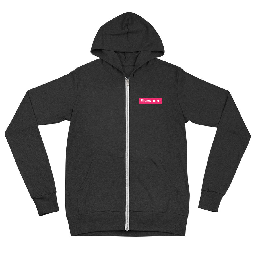 Elsewhere unisex zip hoodie