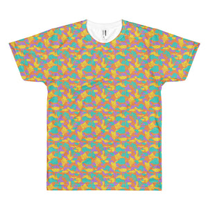 Short sleeve Yellow Elsie Camo men's t-shirt