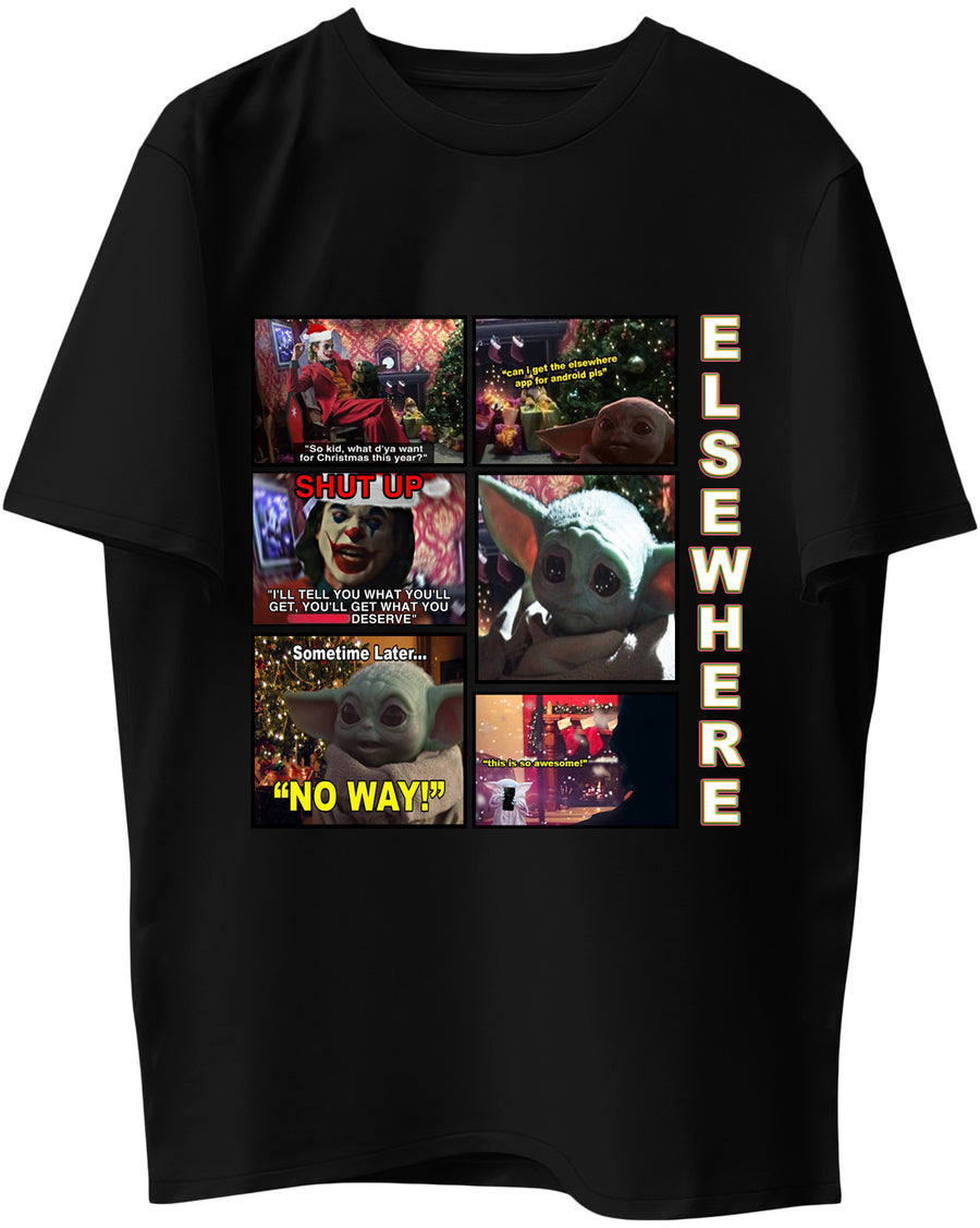 Elsewhere for Android x Joker x Baby Yoda - Short-Sleeve Unisex T-Shirt