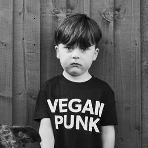 VEGAN PUNK kids tee