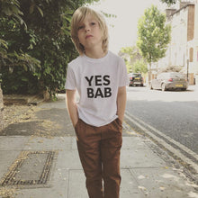 Load image into Gallery viewer, YES BAB kids tee